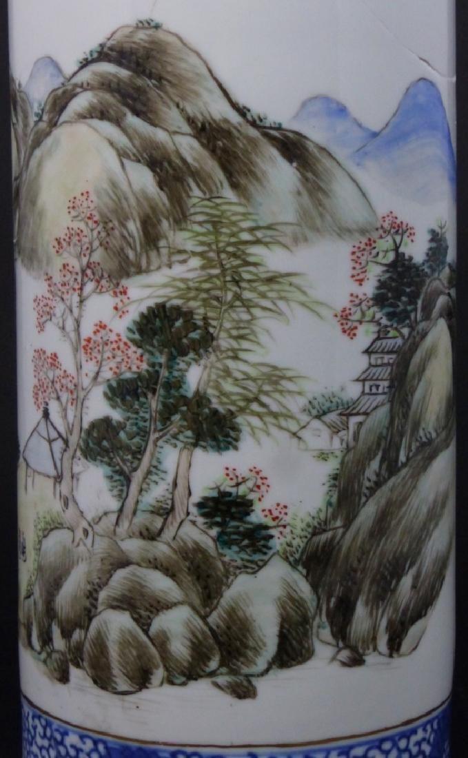 CHINESE PORCELAIN CYLINDRICAL VASE - 8