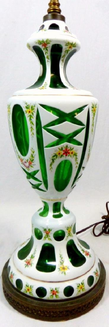PR BOHEMIAN ENAMELED CUT TO GREEN ENAMELED LAMPS - 5