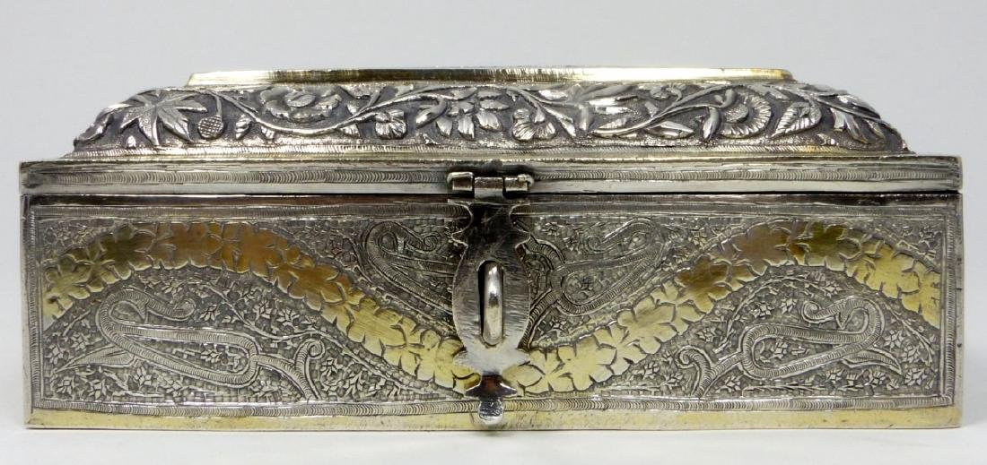 ANTIQUE INDIAN SILVER 5 COMPARTMENT SPICE BOX