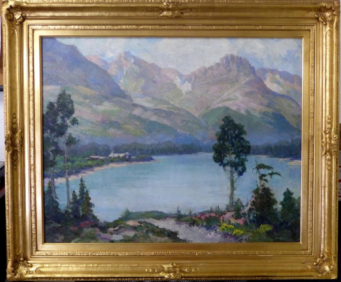RICHARD A. CHASE OIL PAINTING ON CANVAS LANDSCAPE