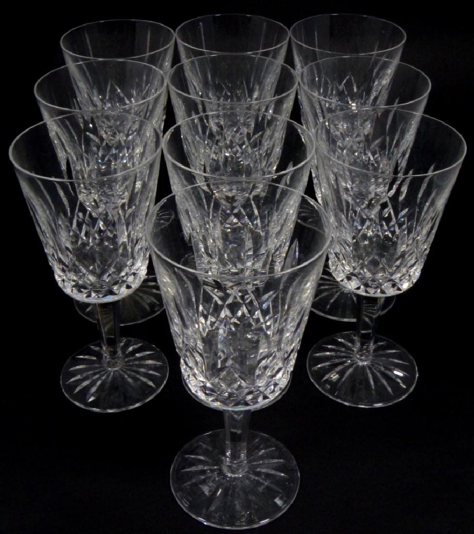 10pc WATERFORD LISMORE CRYSTAL WATER GOBLETS