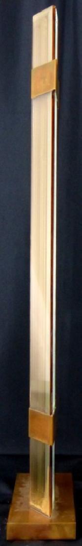 RUNSTADLER STUDIOS GLASS PANEL & BRASS SCULPTURE - 6