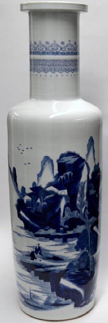 18th C CHINESE BLUE & WHITE PORCELAIN VASE 80CM