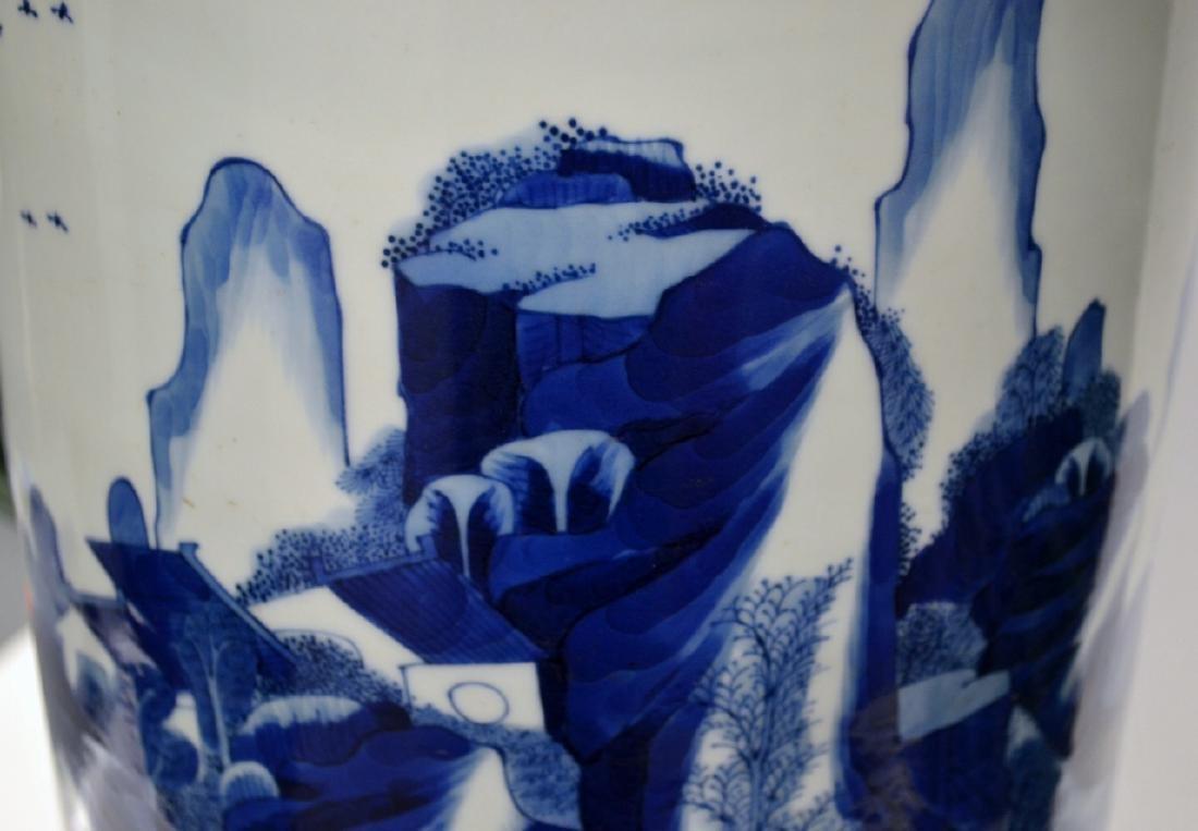 18th C CHINESE BLUE & WHITE PORCELAIN VASE 80CM - 3