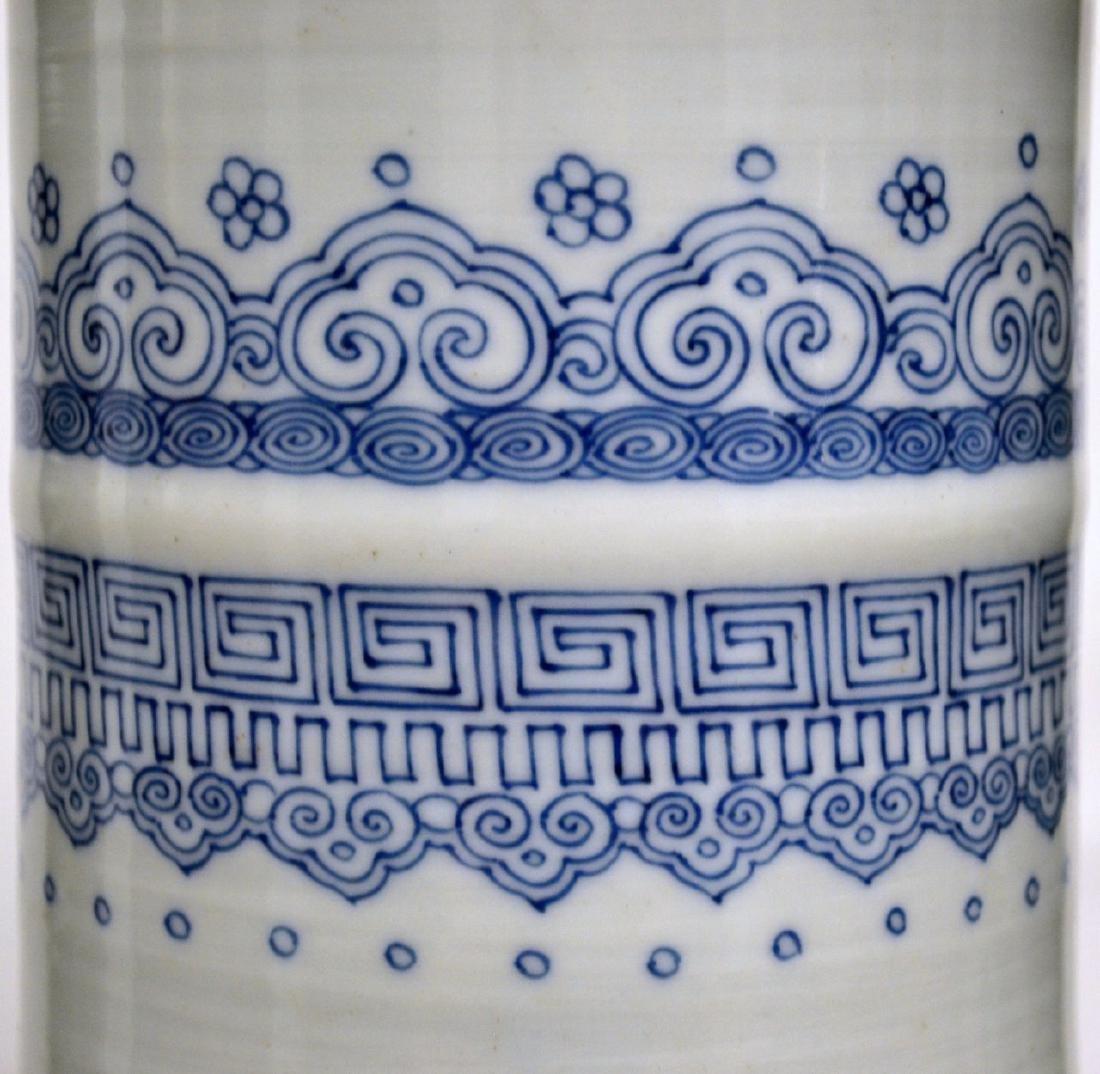 18th C CHINESE BLUE & WHITE PORCELAIN VASE 80CM - 4