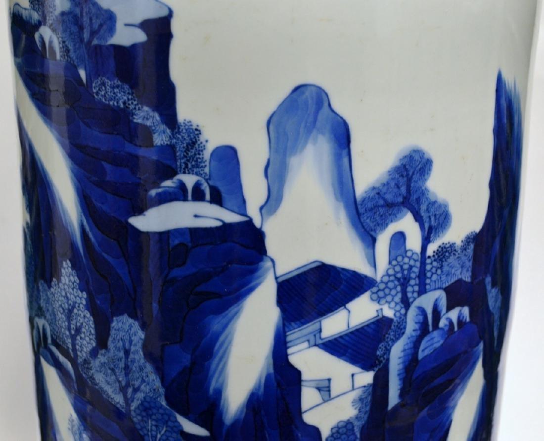 18th C CHINESE BLUE & WHITE PORCELAIN VASE 80CM - 5