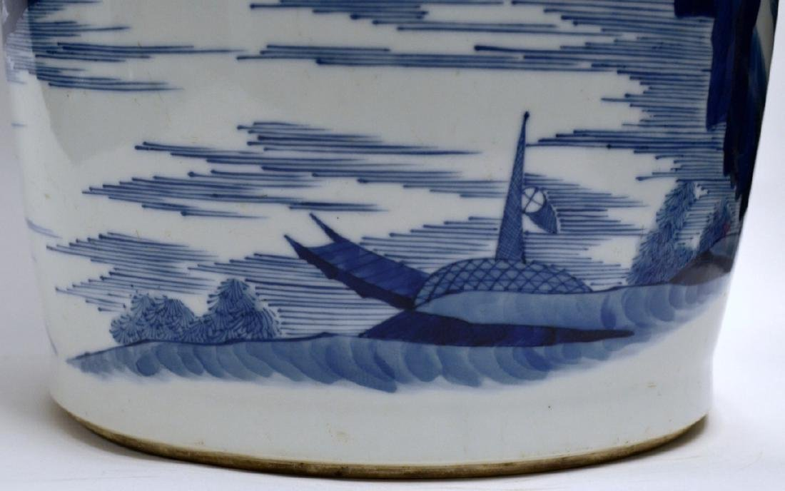 18th C CHINESE BLUE & WHITE PORCELAIN VASE 80CM - 8