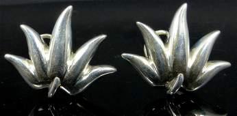 PR TIFFANY & CO STERLING SILVER FLOWER EARRINGS