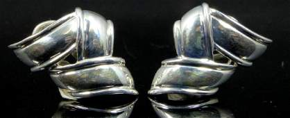 PR TIFFANY & CO STERLING SILVER ZIG ZAG EARRINGS