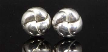 PR TIFFANY & CO STERLING SILVER KNOT EARRINGS