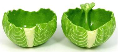 3pc DODIE THAYER LETTUCE WARE BOWLS  SPOON