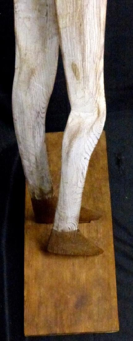 WILLIAM KING 'GOOD OLD DAYS' CARVED WOOD SCULPTURE - 5