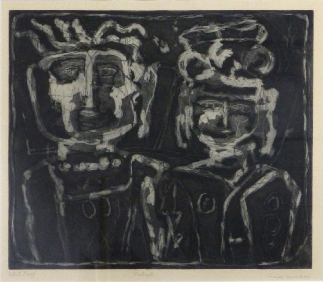 LOUISE NEVELSON 'PORTRAITS' AQUATINT ETCHING
