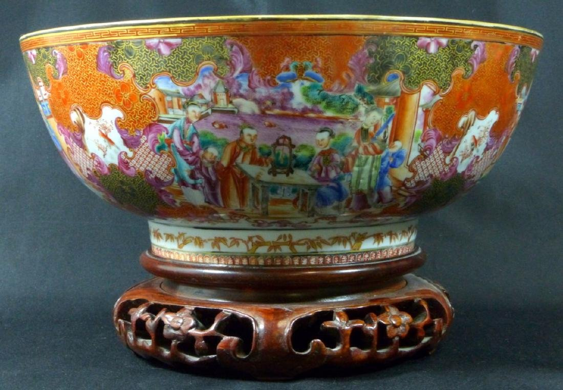 18th C CHINESE LARGE FAMILLE ROSE BOWL - 10