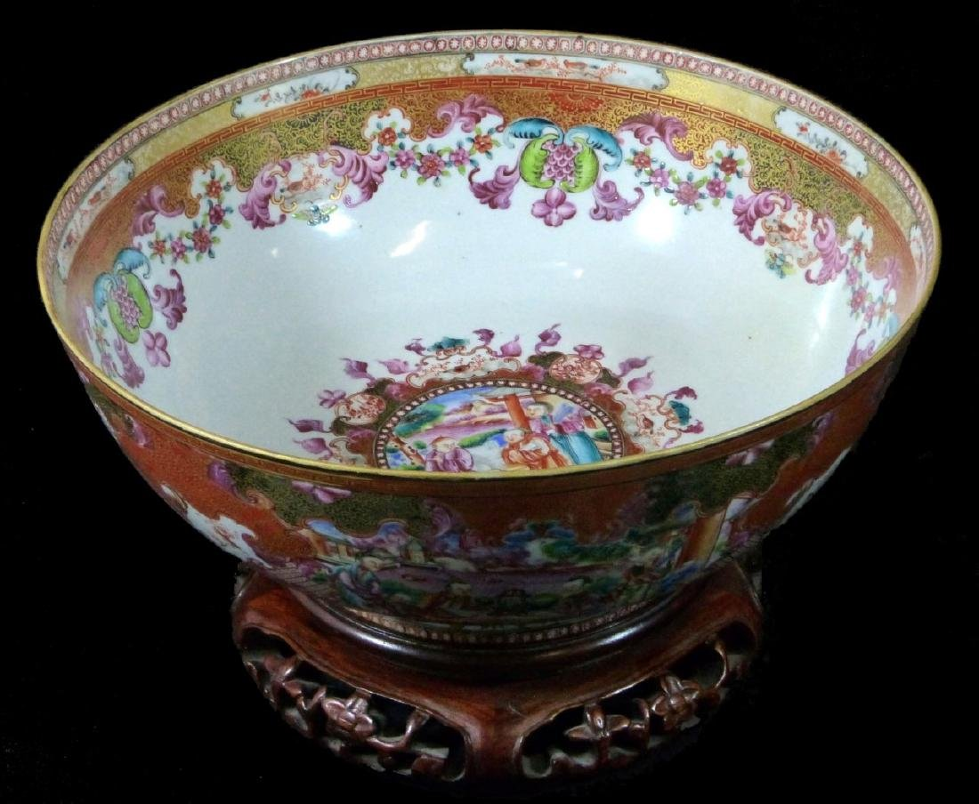 18th C CHINESE LARGE FAMILLE ROSE BOWL