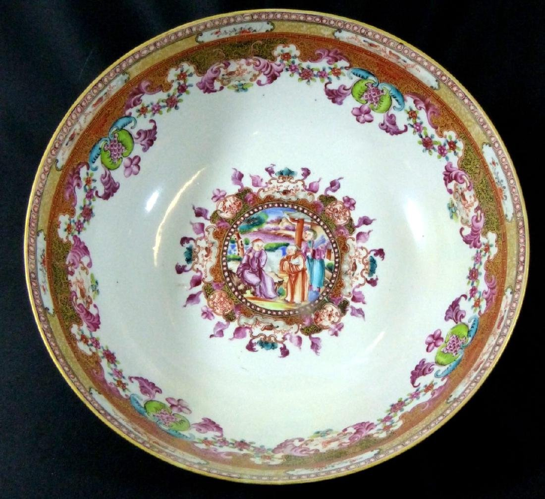 18th C CHINESE LARGE FAMILLE ROSE BOWL - 2