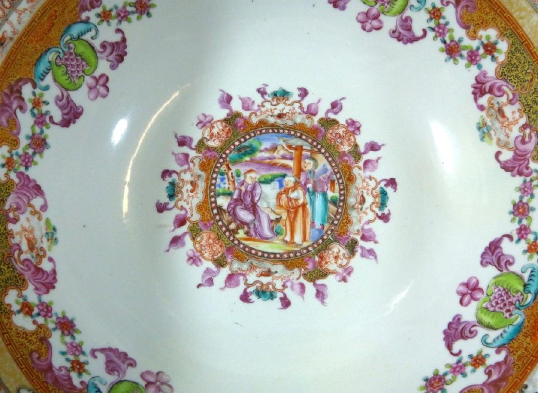 18th C CHINESE LARGE FAMILLE ROSE BOWL - 3