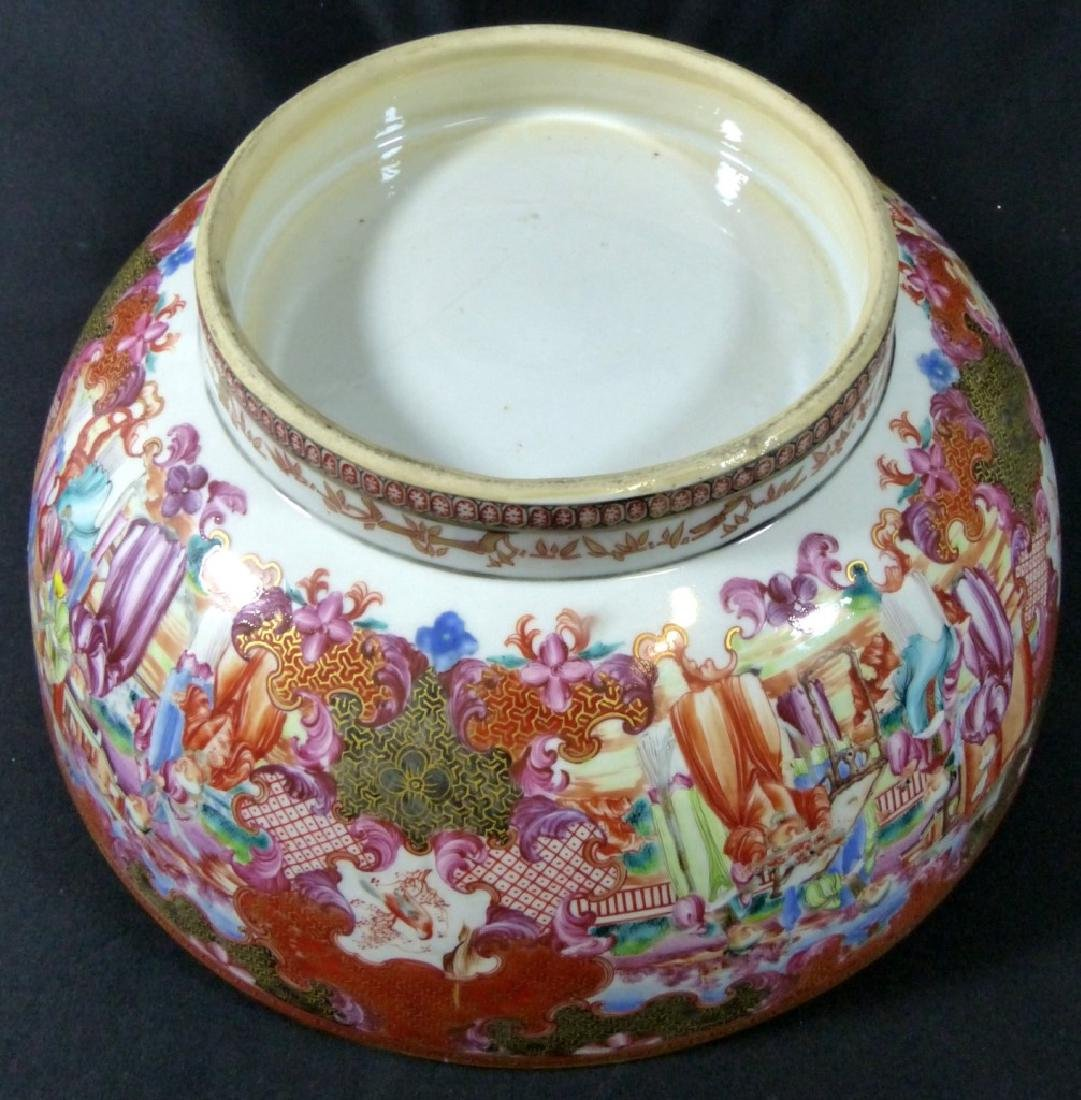 18th C CHINESE LARGE FAMILLE ROSE BOWL - 4