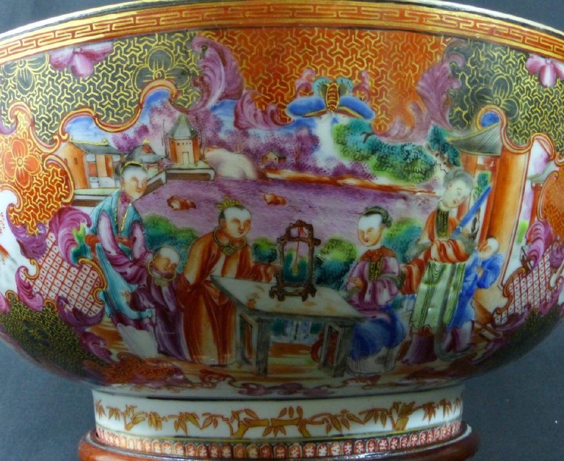 18th C CHINESE LARGE FAMILLE ROSE BOWL - 5
