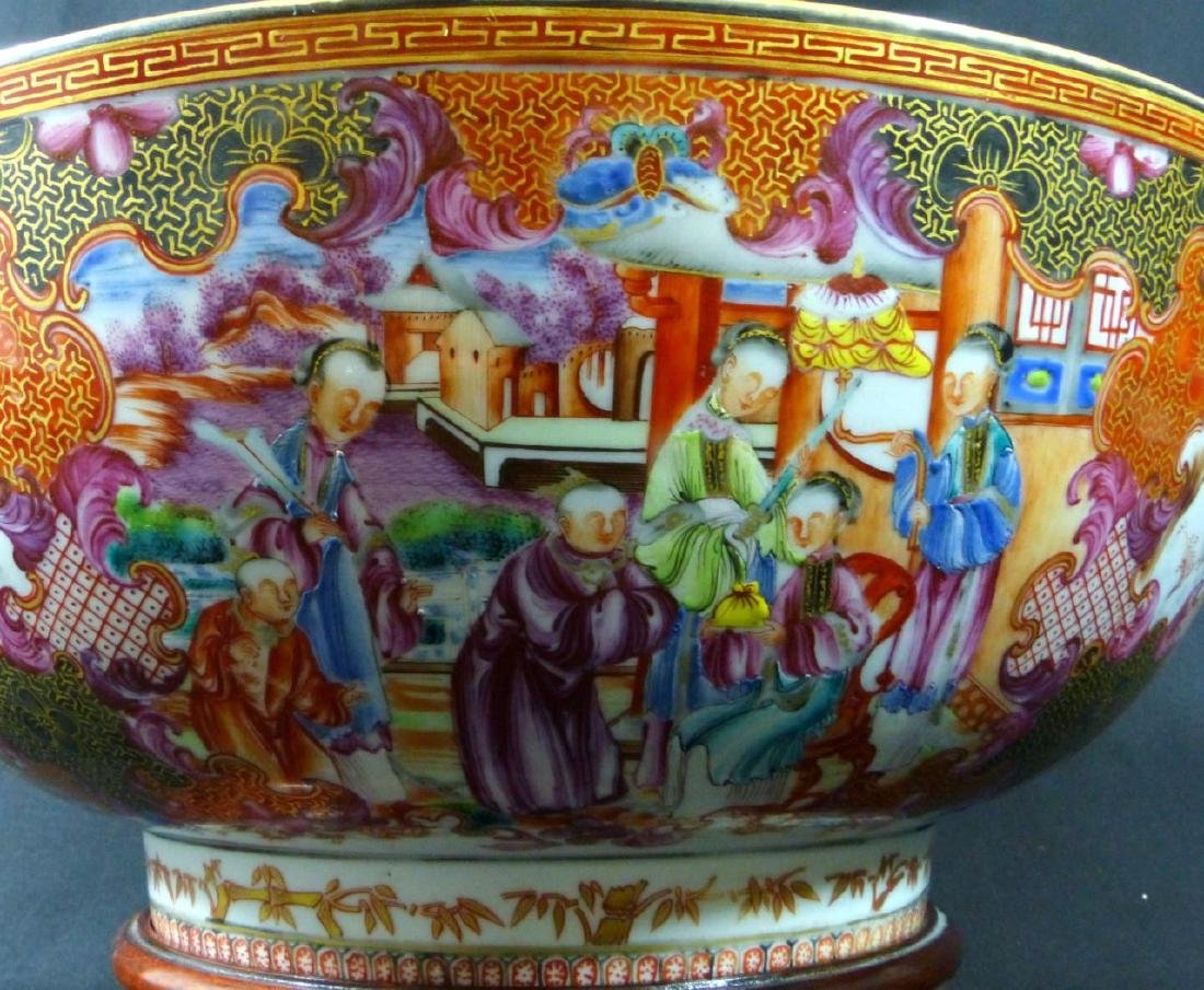 18th C CHINESE LARGE FAMILLE ROSE BOWL - 6
