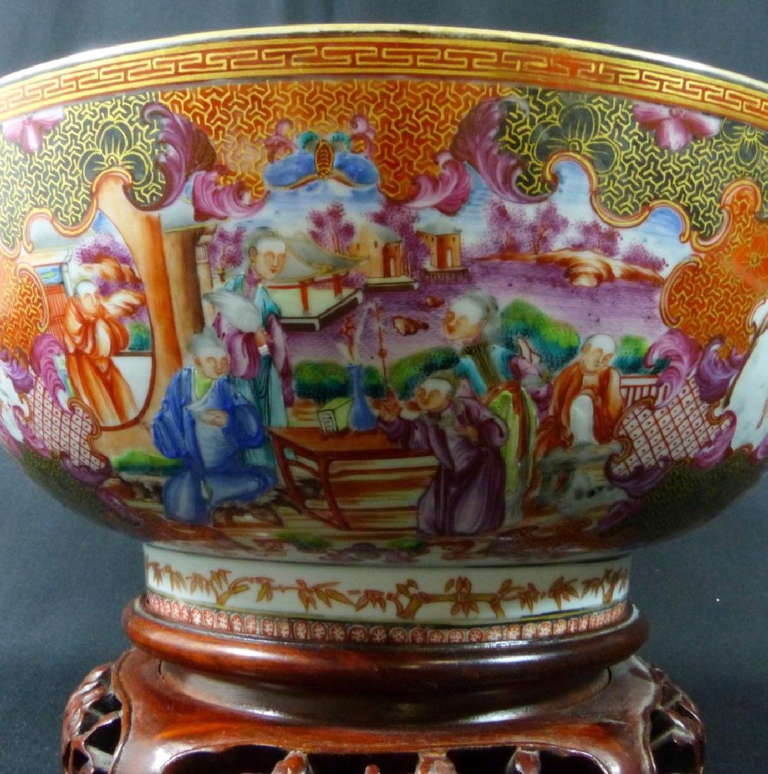 18th C CHINESE LARGE FAMILLE ROSE BOWL - 8