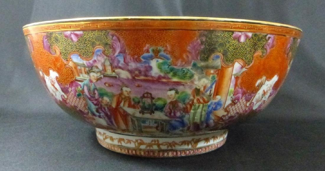 18th C CHINESE LARGE FAMILLE ROSE BOWL - 9