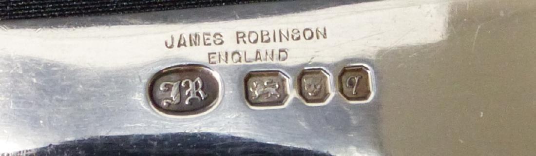 64pc JAMES ROBINSON 'TRIFID' STERLING FLATWARE - 9