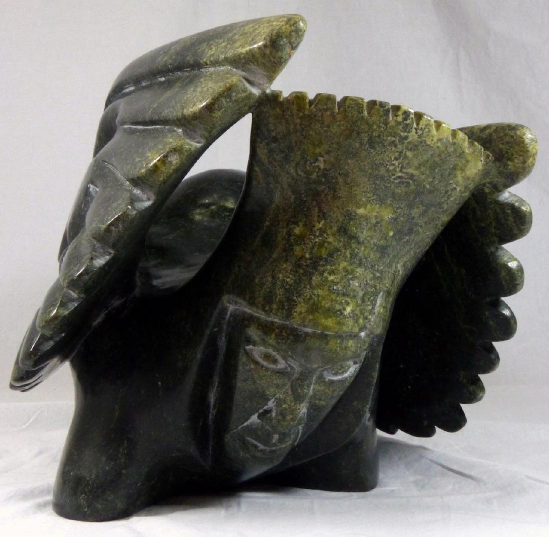 TOONOO SHARKY 'BIRD SPIRITS' SERPENTINE SCULPTURE - 7