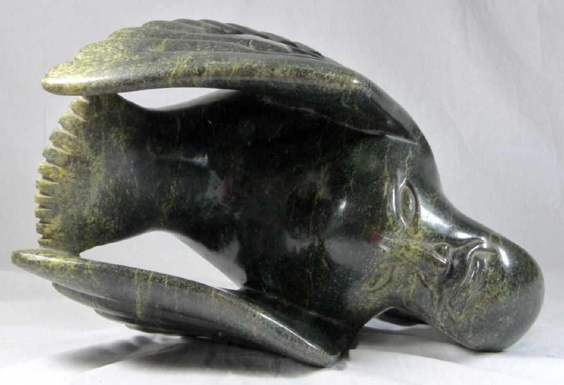 TOONOO SHARKY 'BIRD SPIRITS' SERPENTINE SCULPTURE - 8
