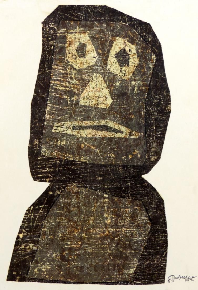 JEAN DUBUFFET LITHOGRAPH 'THE WARRIOR'