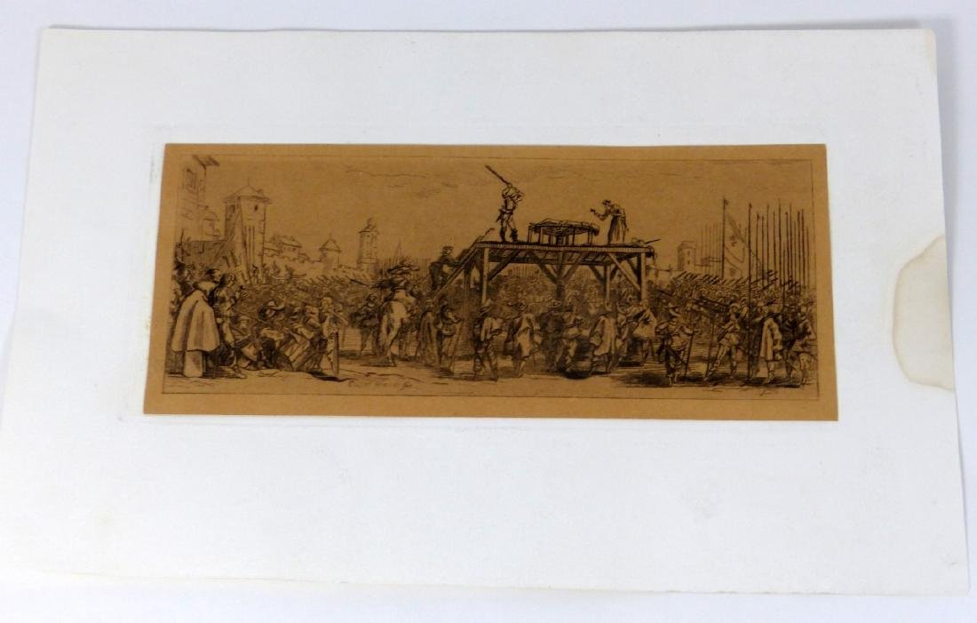 JACQUES CALLOT ETCHING 'THE RACK'