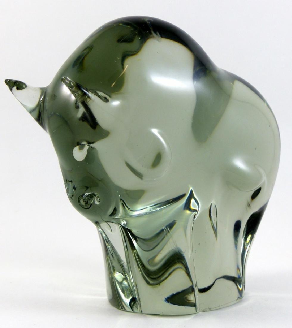 LIVIO SEGUSO MURANO ART GLASS BULL