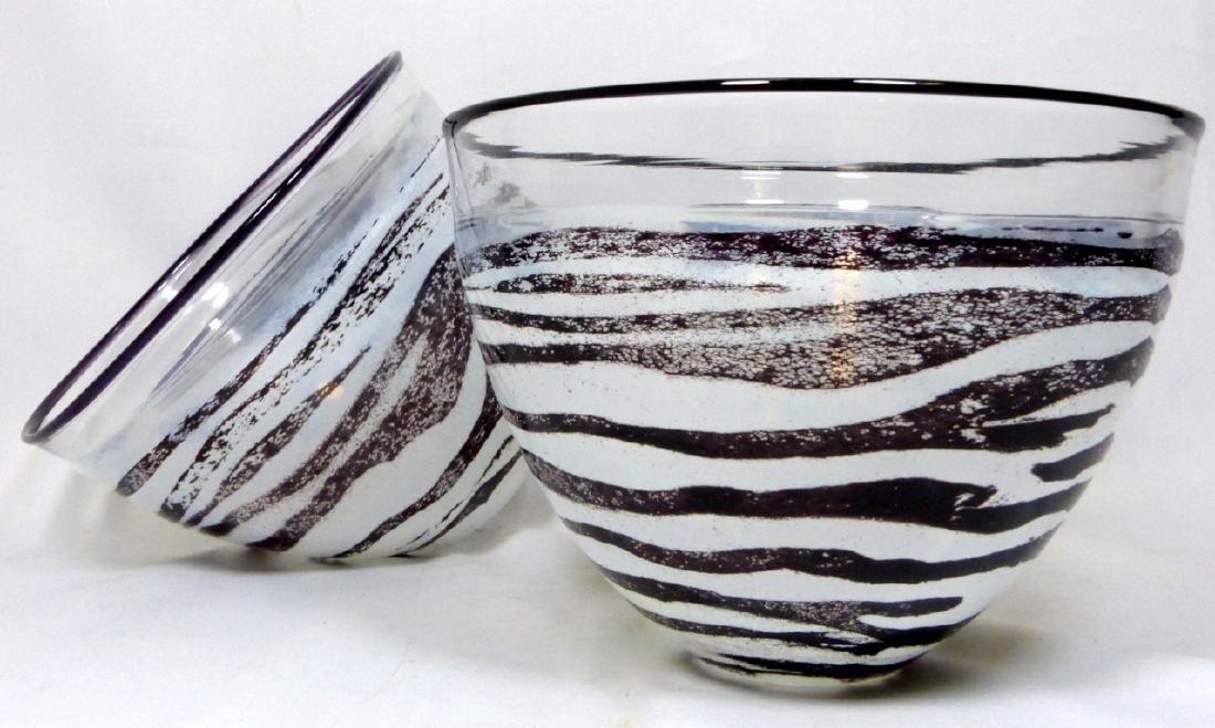 PR KJELL ENGMAN FOR KOSTA BODA SAFARI GLASS BOWLS
