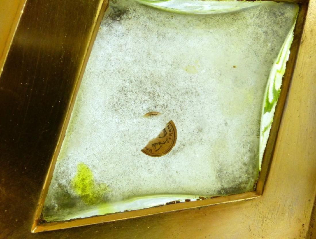 PR BACCARAT ACID ETCHED GLASS ORMOLU MOUNTED VASES - 7