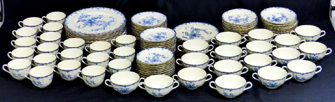 101pc ROYAL WORCESTER MANSFIELD BLUE CHINA SET - 3