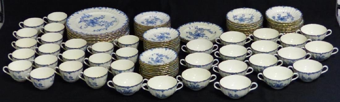 101pc ROYAL WORCESTER MANSFIELD BLUE CHINA SET - 4