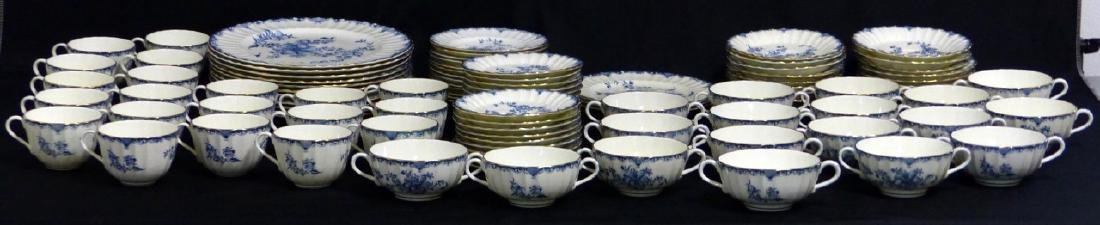 101pc ROYAL WORCESTER MANSFIELD BLUE CHINA SET - 5