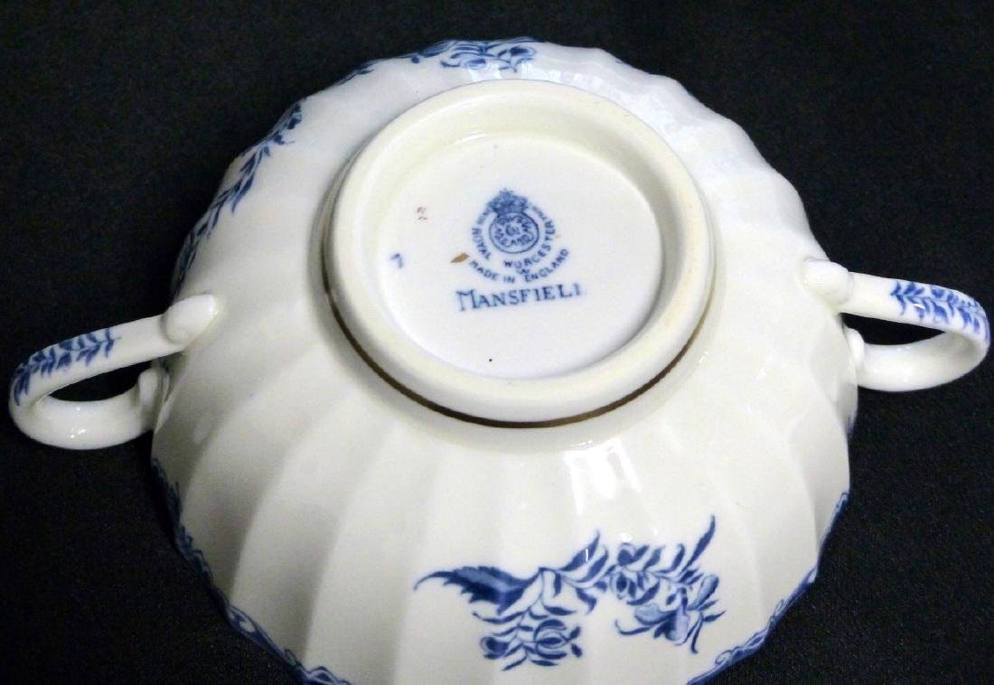 101pc ROYAL WORCESTER MANSFIELD BLUE CHINA SET - 6