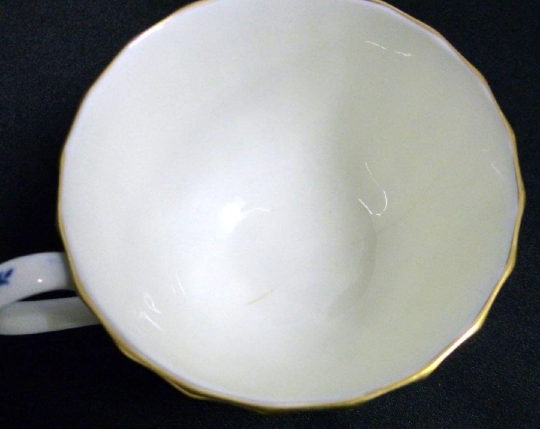 101pc ROYAL WORCESTER MANSFIELD BLUE CHINA SET - 7
