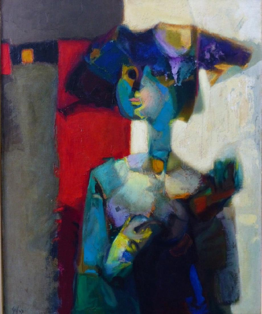 GIL TEIXEIRA LOPES OIL PAINTING ON CANVAS - 2