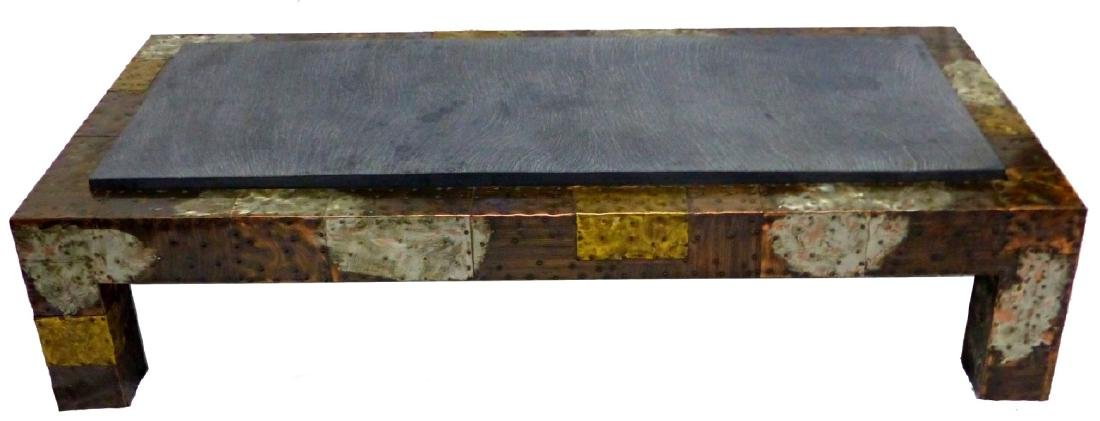 PAUL EVANS FOR DIRECTIONAL PATCHWORK COFFEE TABLE