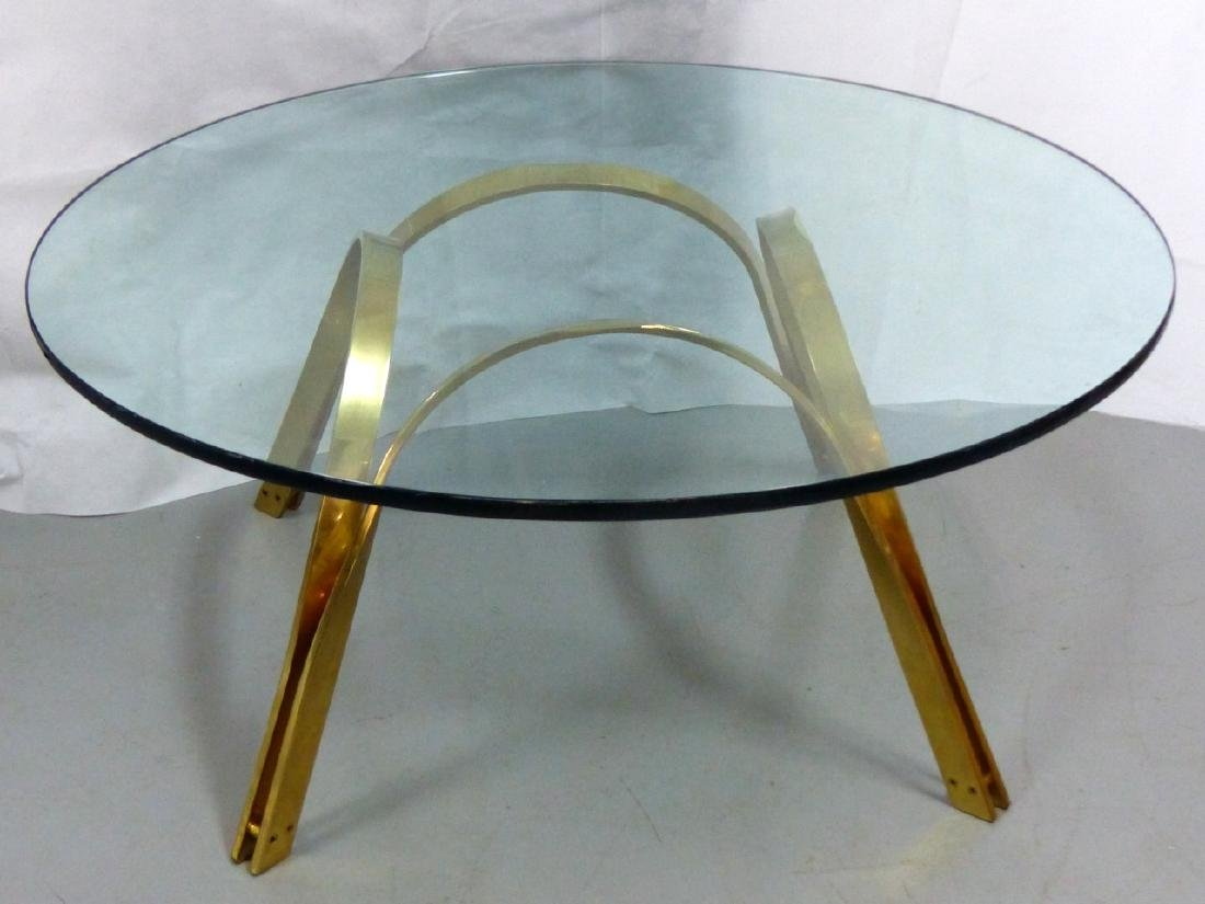 ROGER SPRUNGER FOR DUNBAR BRASS COFFEE TABLE