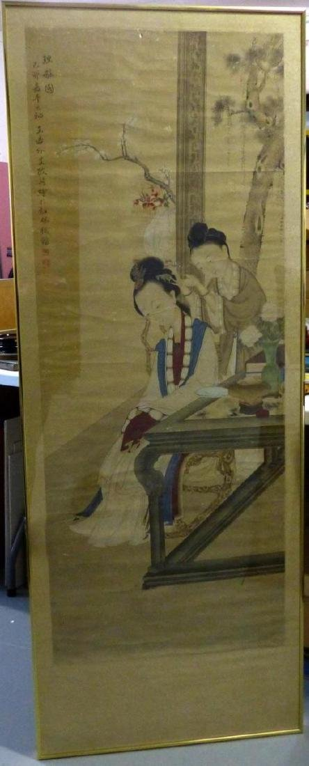 GAI QI CHINESE ANTIQUE SCROLL PAINTING