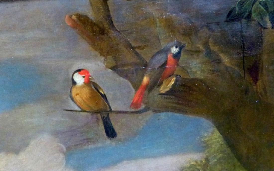 JACOB BOGDANI OIL PAINTING ON CANVAS BIRDS & DOGS - 4