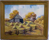 WILLIAM H WATSON OIL PAINTING ON BOARD LANDSCAPE