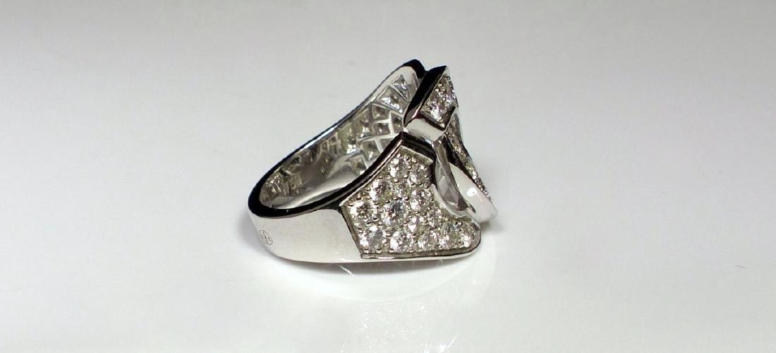 DINH VAN 18kt WG & DIAMOND MENOTTES RING - 2