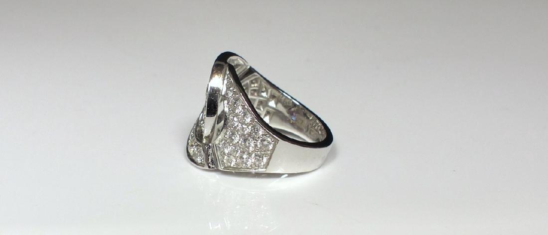 DINH VAN 18kt WG & DIAMOND MENOTTES RING - 4
