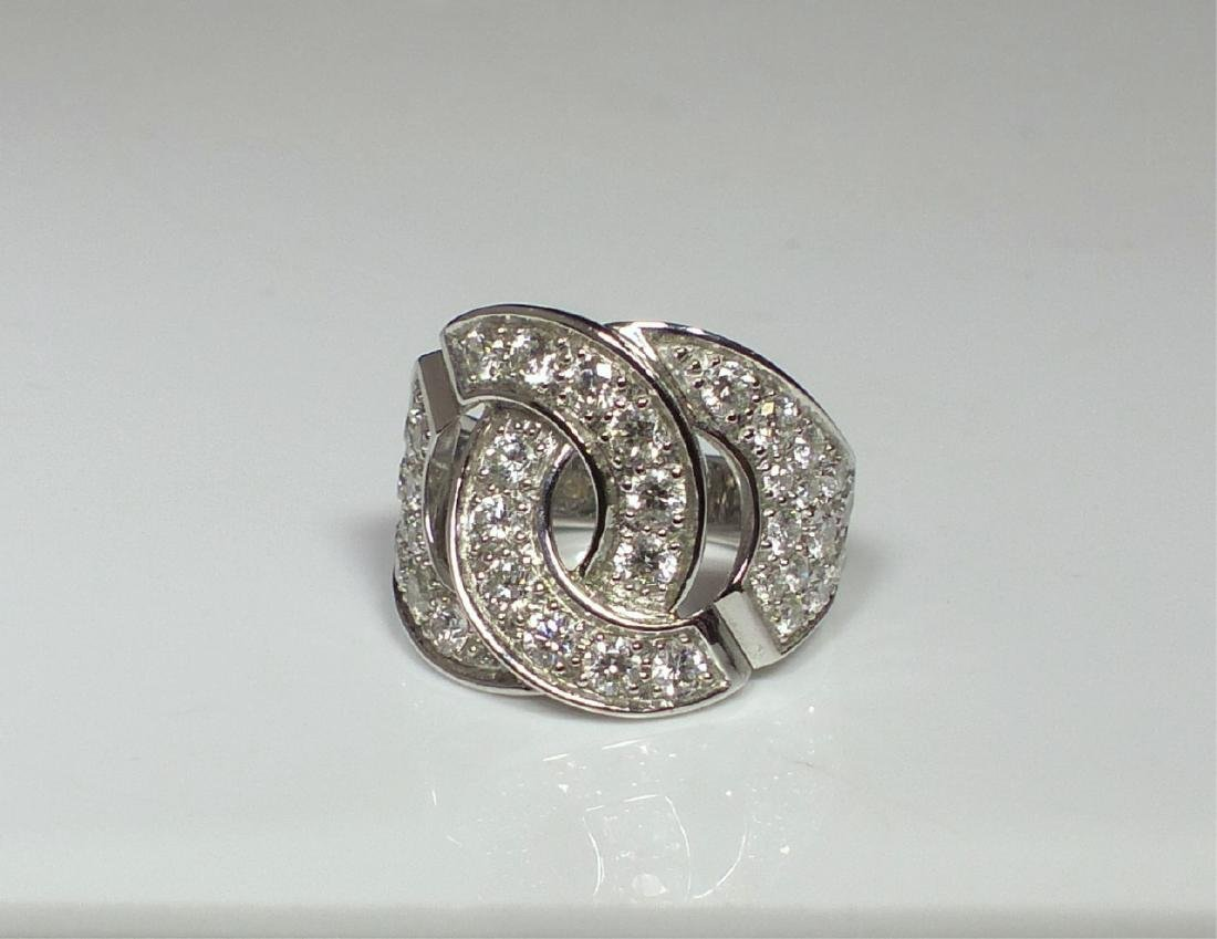DINH VAN 18kt WG & DIAMOND MENOTTES RING - 5