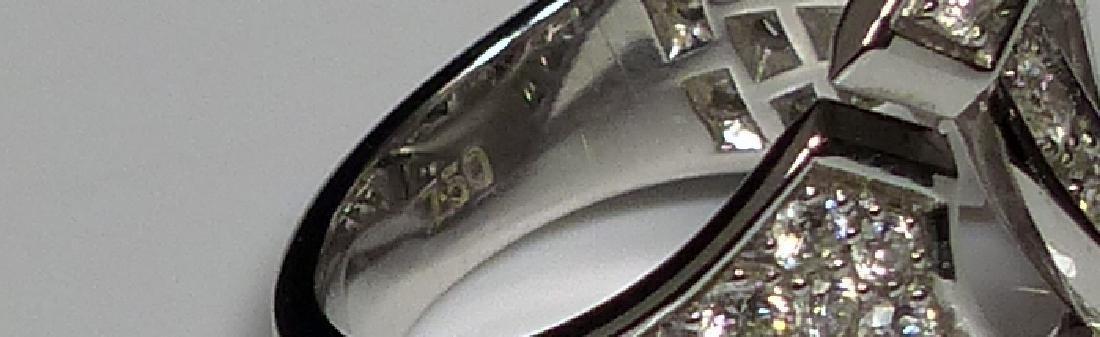 DINH VAN 18kt WG & DIAMOND MENOTTES RING - 7