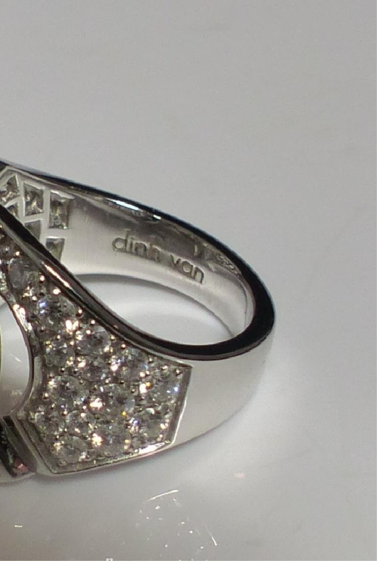 DINH VAN 18kt WG & DIAMOND MENOTTES RING - 8